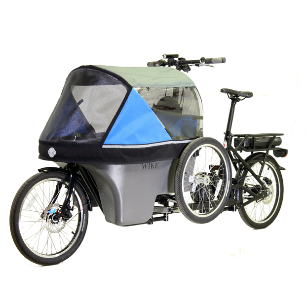 Wike Salamander Cykelklapvogn Blå