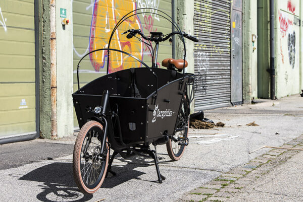 Cargobike long-john ladcykel