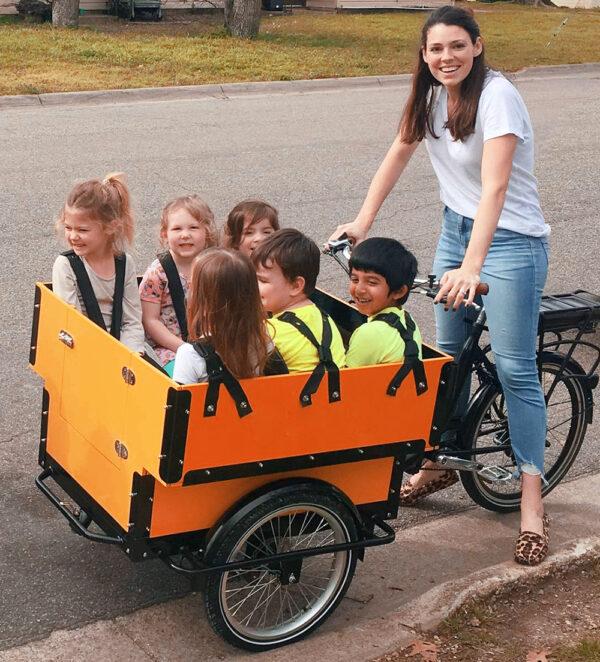 El-ladcykel til dagplejere, børnehaver, skoler, kommuner og institutioner