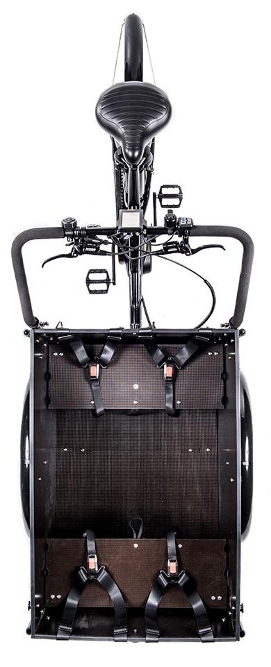 Cargobike of Sweden Delight Premium set oppefra